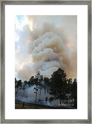 Burnout Near Song Dog Road Framed Print
