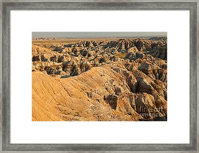Burns Basin Overlook Badlands National Park Framed Print
