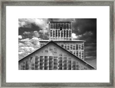 Burns Elevator South Side Bw Framed Print