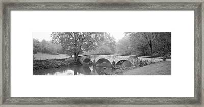 Burnside Bridge Antietam National Framed Print by Panoramic Images
