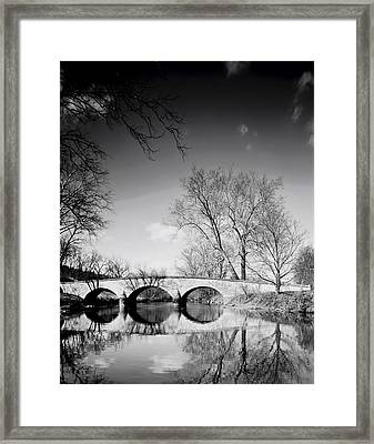 Burnside Bridge At Antietam Framed Print
