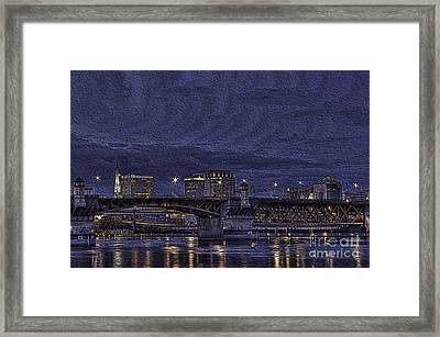 Burnside Bridge Of Portland Framed Print