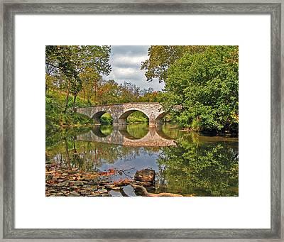 Burnside's Bridge 001 Framed Print