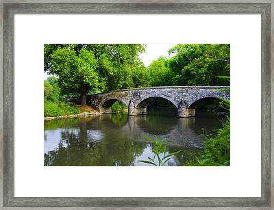 Burnside's Bridge Framed Print