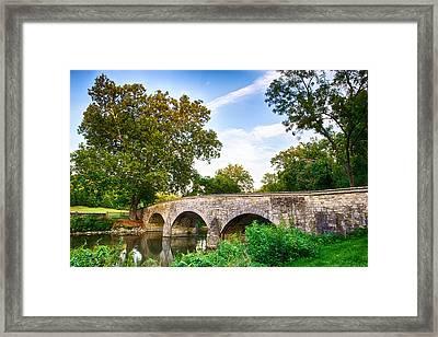 Burnside's Bridge Framed Print by John Daly