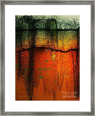 Burnt Caramel Framed Print