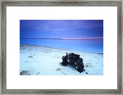 Framed Print featuring the photograph Burnt Driftwood Sunset by Jennifer Casey