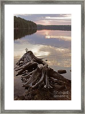 Burnt Island Lake Sunset Framed Print by Chris Hill
