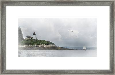 Burnt Island Light Framed Print by Lori Deiter