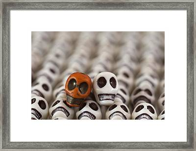 Burnt Orange And White Framed Print by Mike Herdering