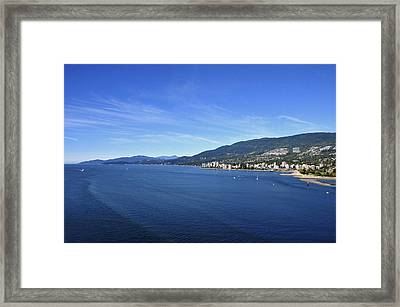 Burrard Inlet Vancouver Framed Print by Aged Pixel
