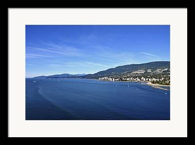 North Vancouver Digital Art Framed Prints