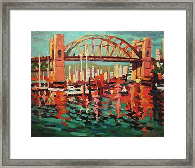 Burrard St. Bridge Framed Print by Brian Simons