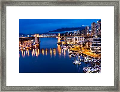 Burrard Street Bridge Framed Print by James Wheeler