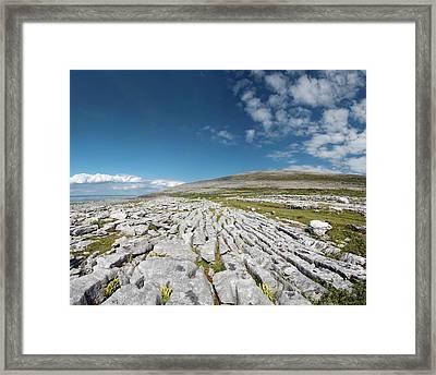 Burren Limestone Pavement Framed Print