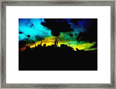 Burro Sunset Abstract Framed Print by Alfredo Martinez
