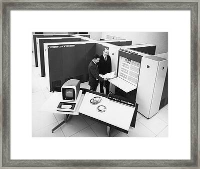 Burroughs 6500 Computer System Framed Print by Underwood Archives