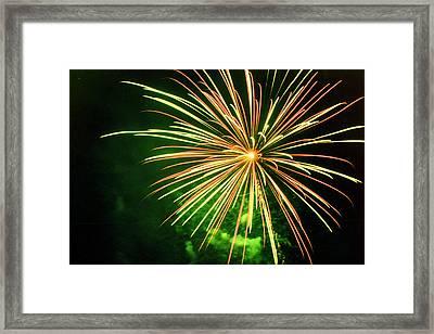 4th Of July Fireworks 6 Framed Print by Howard Tenke