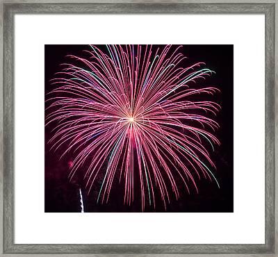 4th Of July Fireworks 24 Framed Print by Howard Tenke