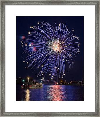 Burst Of Blue Framed Print by Bill Pevlor