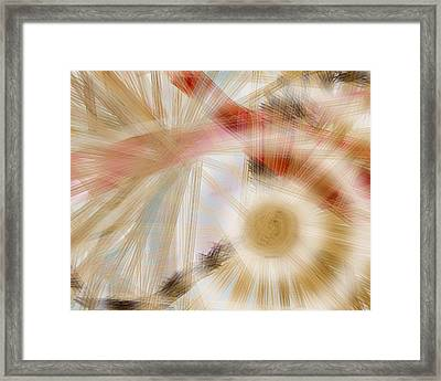 Bursting Brushes Framed Print by Constance Krejci