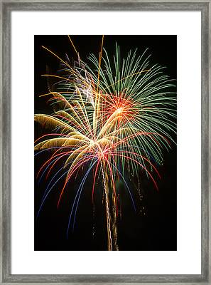 Bursting In Air Framed Print by Garry Gay