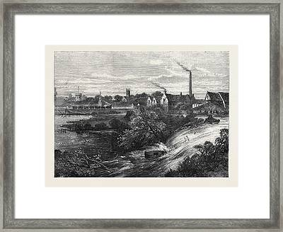 Bursting Of The Napton And Warwick Canal 1869 Framed Print by English School