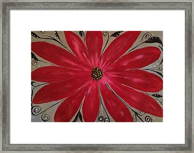Bursting Out Framed Print by Sherry Flaker