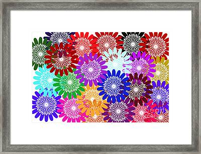 Bursts Of Happiness Framed Print by Tina M Wenger