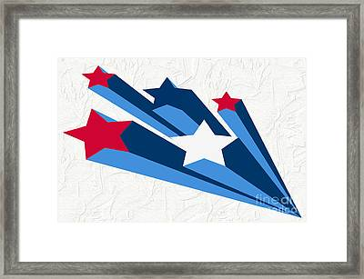 Bursts Of Stars Framed Print