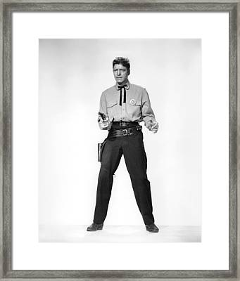 Burt Lancaster In Gunfight At The O.k. Corral  Framed Print by Silver Screen
