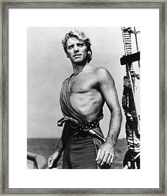 Burt Lancaster In The Crimson Pirate Framed Print