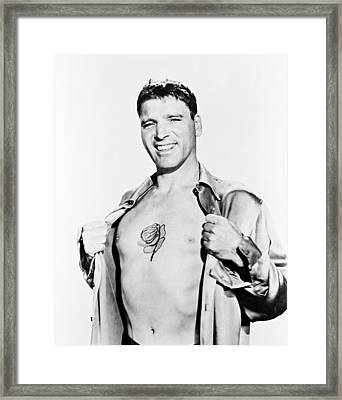 Burt Lancaster In The Rose Tattoo Framed Print