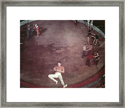 Burt Lancaster In Trapeze  Framed Print by Silver Screen