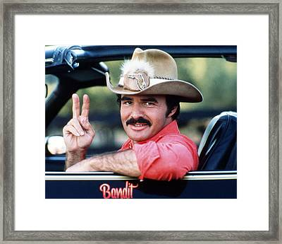 Burt Reynolds In Smokey And The Bandit  Framed Print