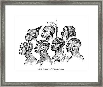 Burton Africans Framed Print