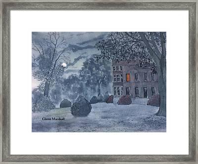 Burton Agnes Nocturne Framed Print