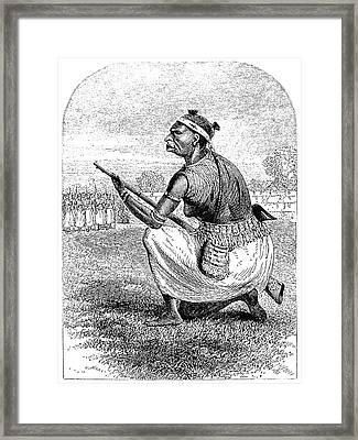 Burton Amazon Soldier Framed Print