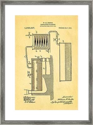 Burton Gasolene Manufacture Patent Art 1913 Framed Print by Ian Monk