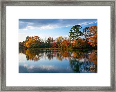 Burton Pond Sunset Framed Print