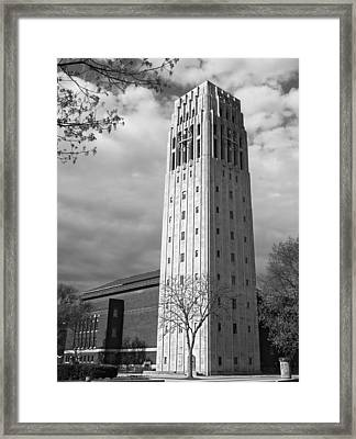 Framed Print featuring the photograph Burton Tower by James Howe