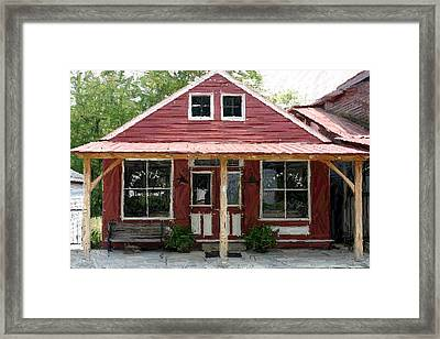 Burton's Store - Perryville Ky Framed Print