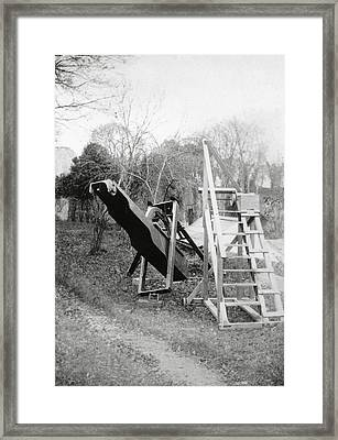 Burton's Telescope Framed Print by Royal Astronomical Society/science Photo Library