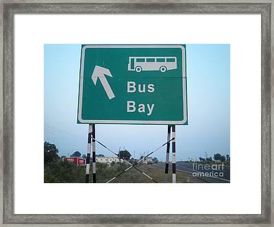 Bus Bay Framed Print