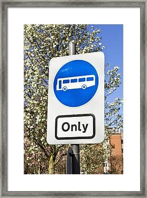 Bus Only Framed Print