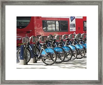Bus Or Bike Framed Print by Gary Smith
