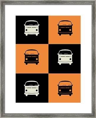 Bus Poster Framed Print by Naxart Studio