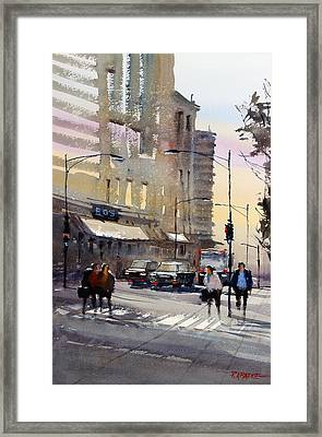 Bus Stop - Chicago Framed Print