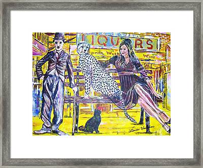 Bus Stop Framed Print by Linda Vaughon