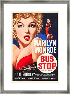 Bus Stop Framed Print by MMG Archives
